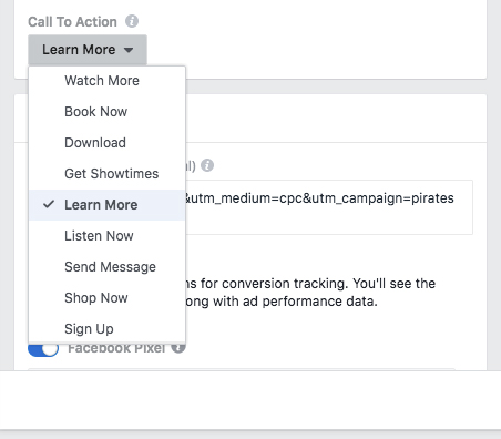 Facebook Video Calls to Action