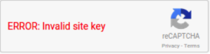 Google Recaptcha Error