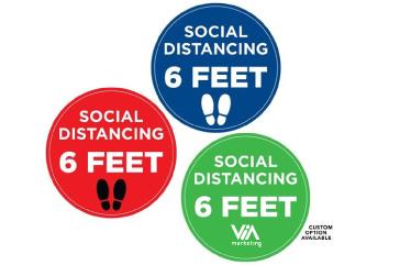 "12"" Social Distancing Circle Floor Decal"