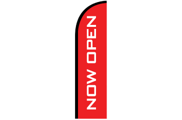 8' Digitally Printed Single Reverse Half Drop Banner