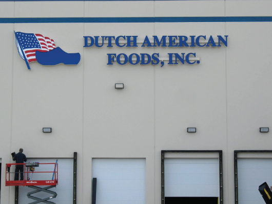 nwi signs dutch american foods