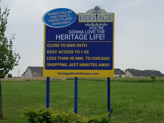 nwi signs heritage north community standing