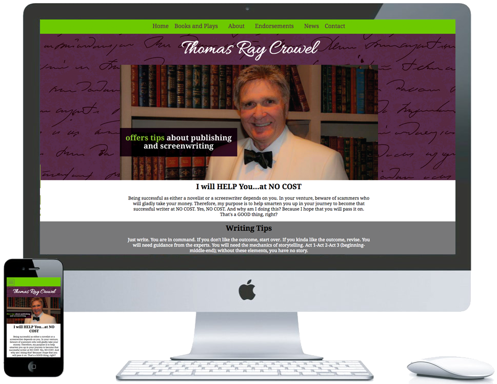 nwi website design thomas ray crowel cms responsive