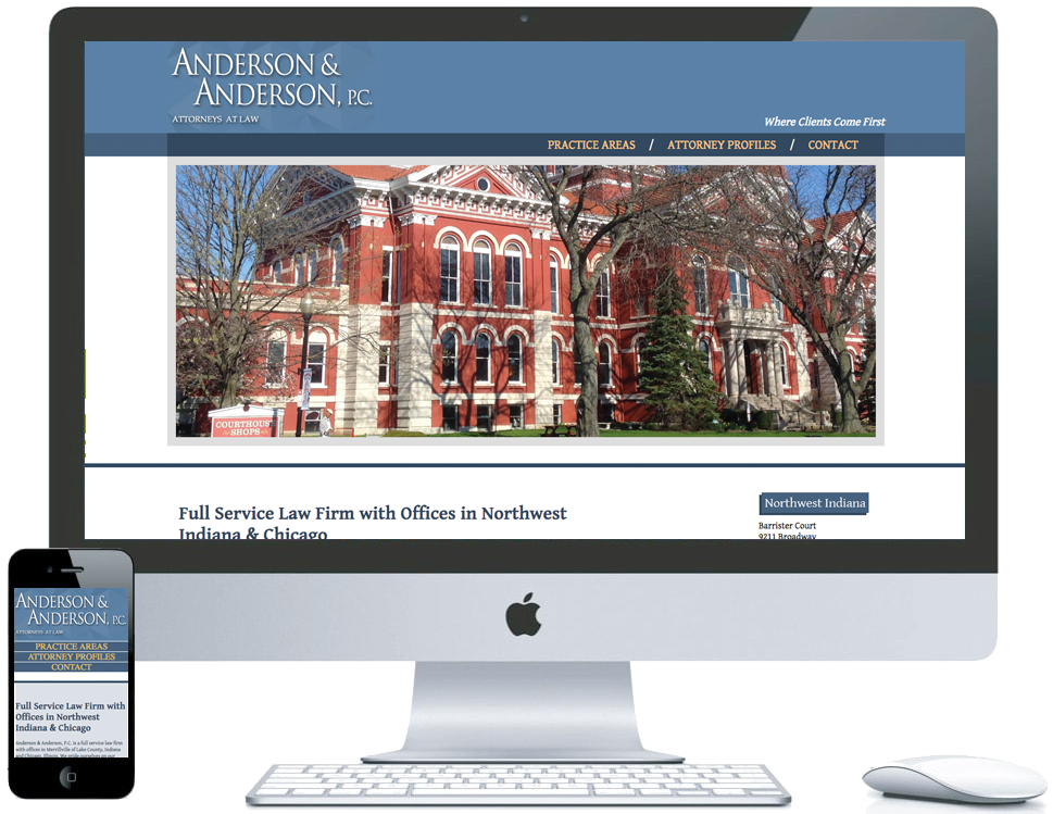 nwi website design Anderson and Anderson cms responsive