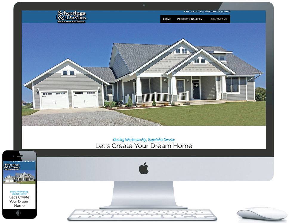 nwi website design S and DV cms responsive