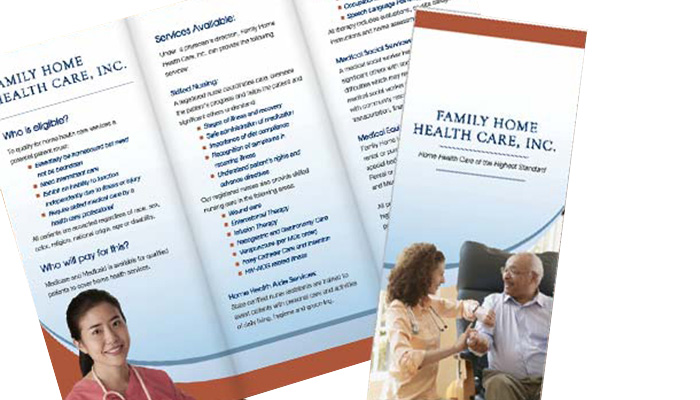 nwi brochure and print family home health service