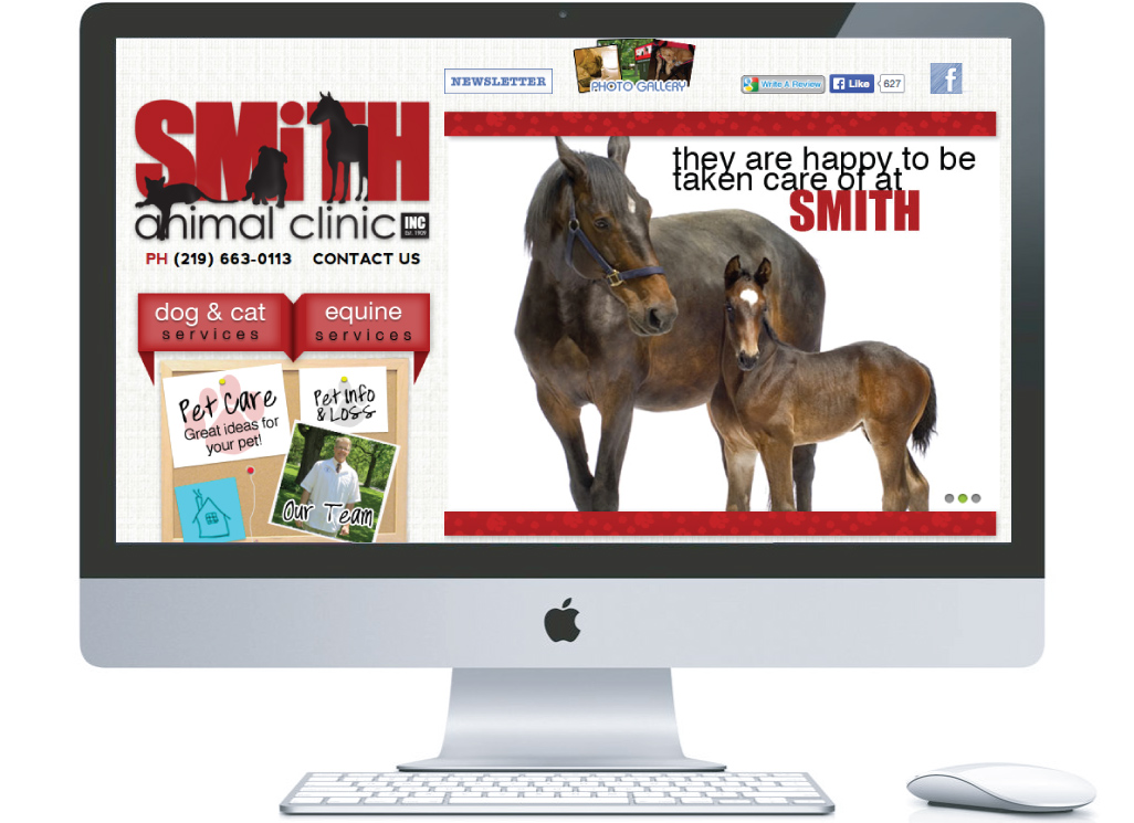 nwi website design Smith Animal Clinic cms responsive