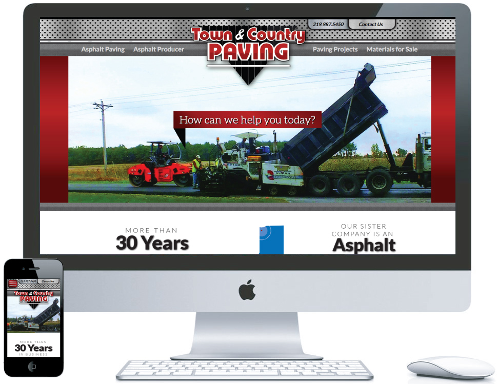 nwi website design Town and COuntry Paving cms responsive